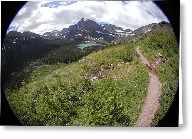 Montana Mountain Path  Greeting Card