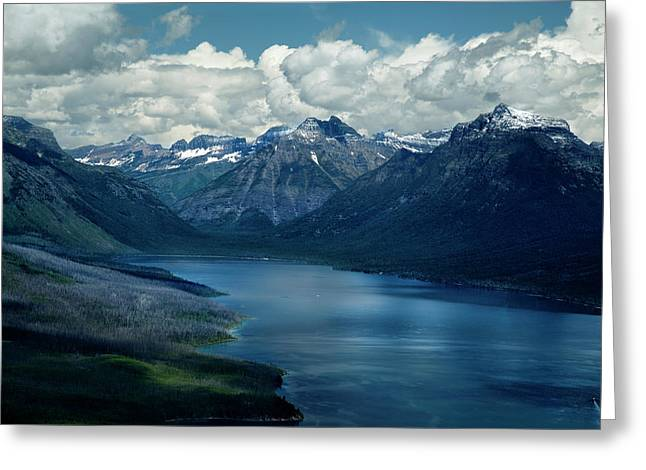Montana Mountain Vista And Lake Greeting Card