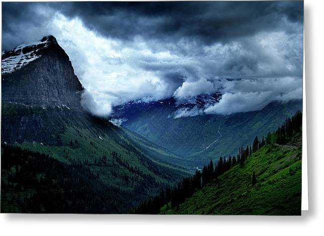 Montana Mountain Vista Greeting Card