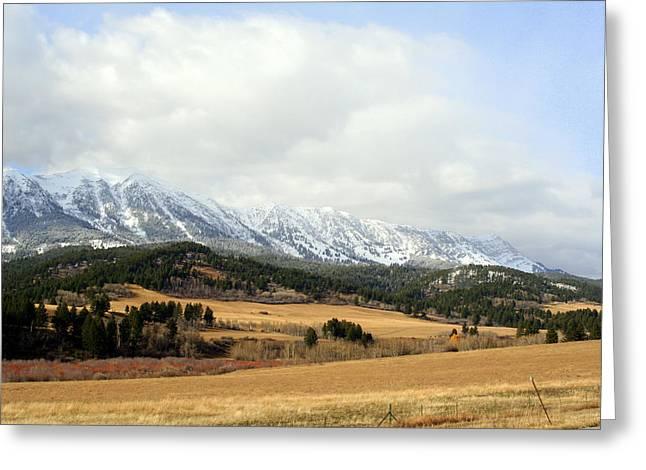 Montana Mountains Greeting Card by Lynn Bawden