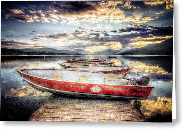 Montana Outboard Greeting Card