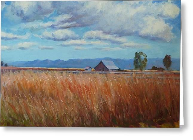 Montana Prairie In The Fall Greeting Card