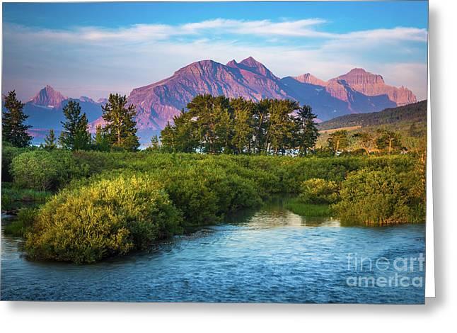Montana Purple Mountains Greeting Card by Inge Johnsson