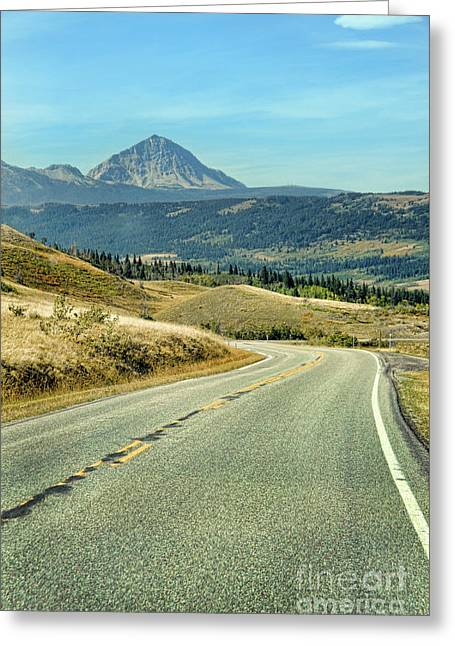 Greeting Card featuring the photograph Montana Road by Jill Battaglia