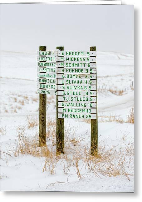 Montana Signpost Greeting Card by Todd Klassy