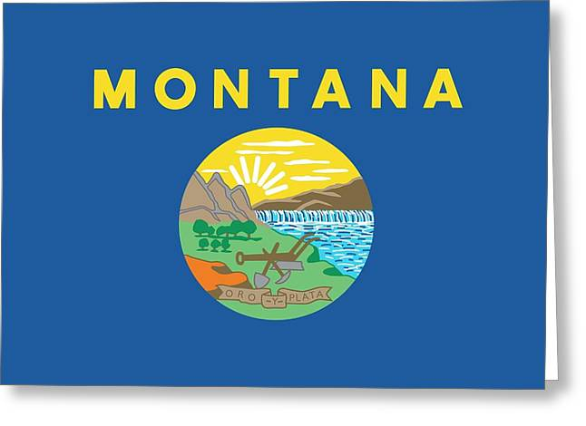 Montana State Flag Greeting Card by American School