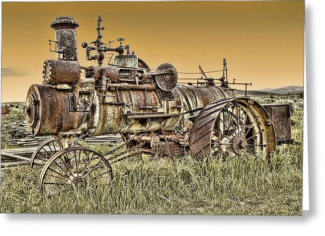 Montana Steam Punk - Nevada City Ghost Town Greeting Card by Daniel Hagerman