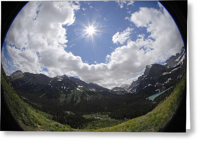 Montana Sun Burst Greeting Card