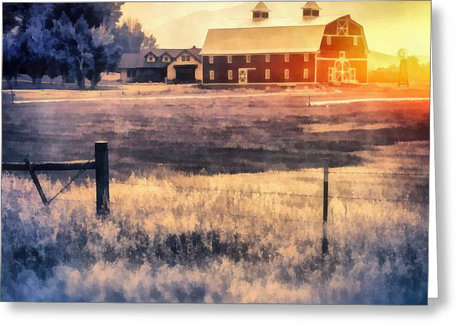 Montana Sunrise Greeting Card by Edward Fielding