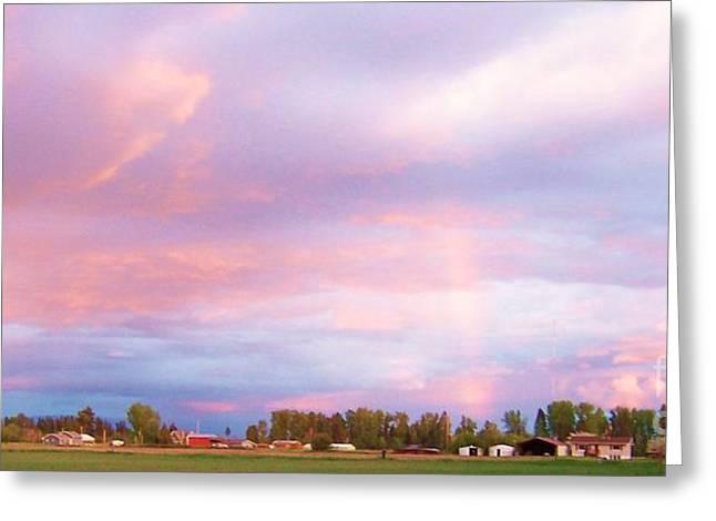 Montana Sunset 1 Greeting Card