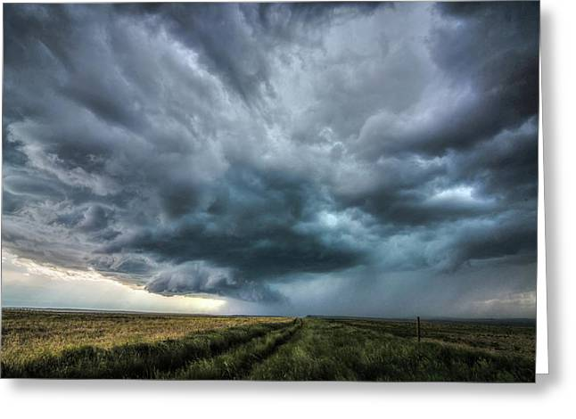Montana Thunderstorm Greeting Card