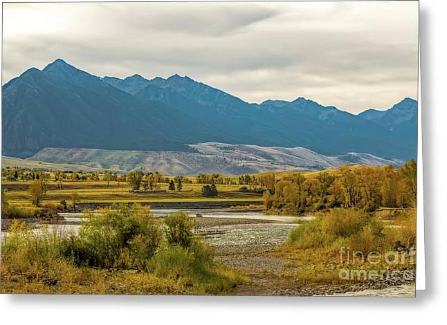 Montana Yellowstone River View Greeting Card by Jon Burch Photography