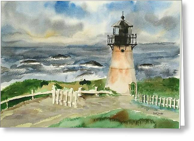 Montara Lighthouse, Plein Air Greeting Card