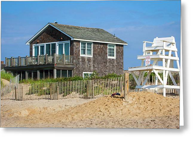 Montauk Beach Life Greeting Card by Art Block Collections