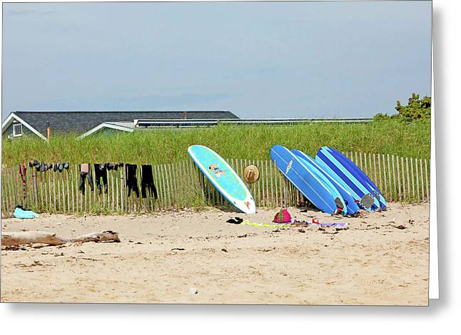 Montauk Beach Stuff Greeting Card by Art Block Collections