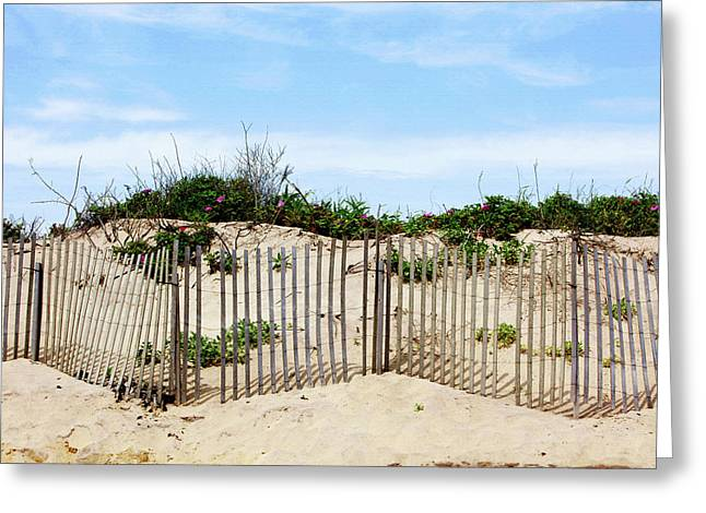 Montauk Dunes Greeting Card by Art Block Collections