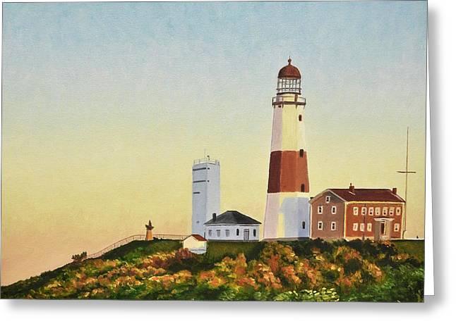 Montauk Lighthouse Greeting Card by Dmitriy Shvets