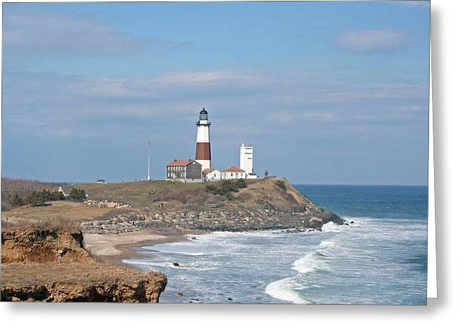 Montauk Lighthouse View From Camp Hero Greeting Card