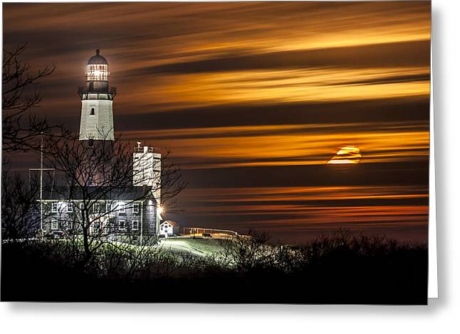 Montauk Moonrise Greeting Card
