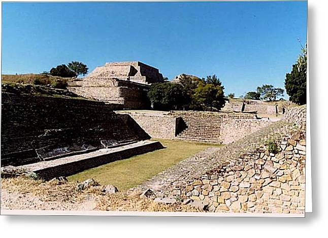 Monte Alban Ball Court Greeting Card by Michael Peychich