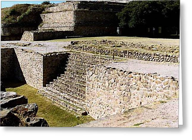 Monte Alban North Platform Greeting Card by Michael Peychich