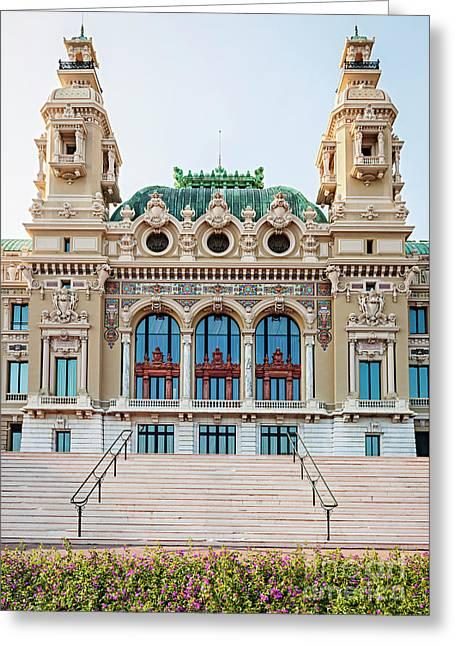 Monte Carlo Casino In Monaco Greeting Card