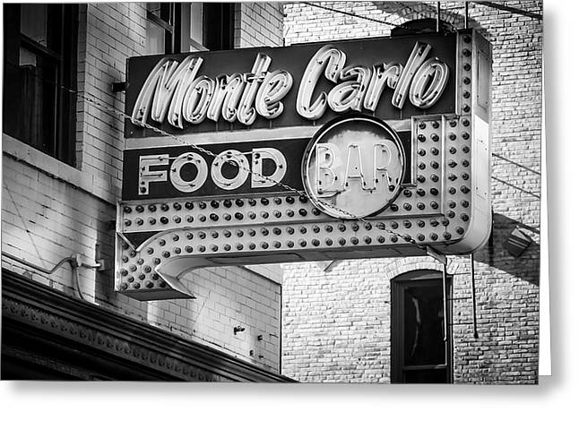 Monte Carlo Food Greeting Card by Perry Webster