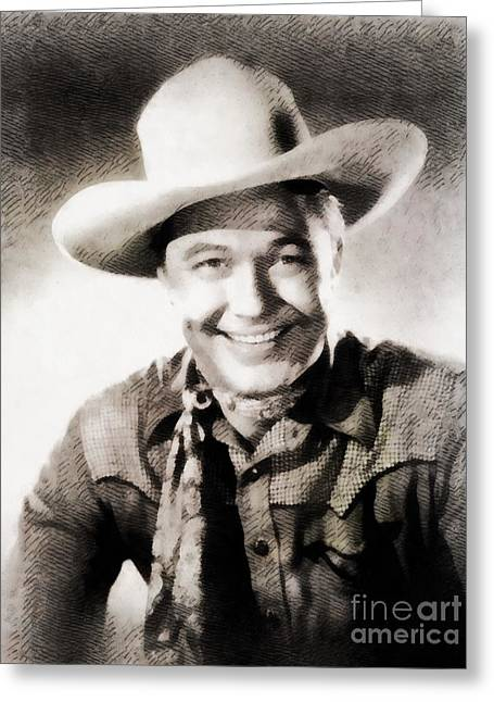 Monte Hale, Vintage Actor Greeting Card by John Springfield
