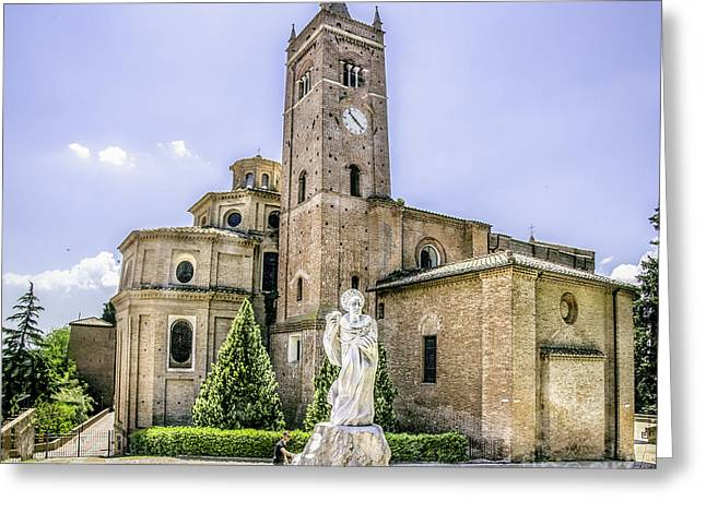 Monte Oliveto Maggiore Canvas- Asciano - Siena Prints  Tuscany Squared Format Greeting Card