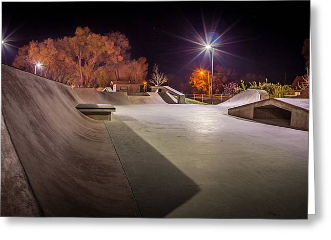 Monte Vista, Co Skate Park Greeting Card by Kenneth Michel