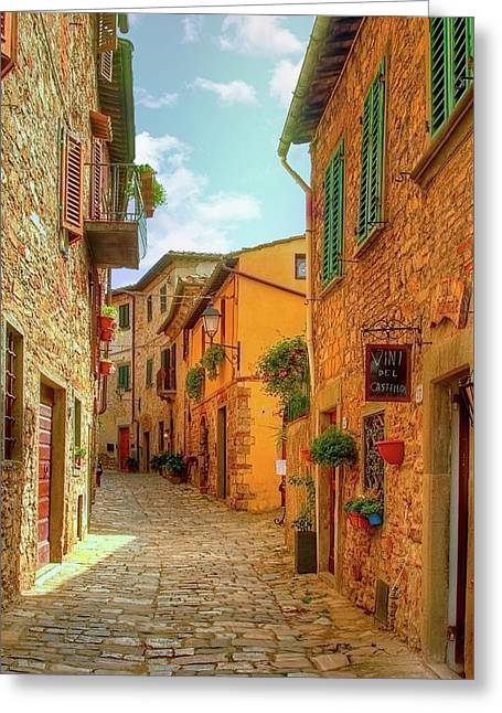 Montefioralle Greeting Card by Robert Murray