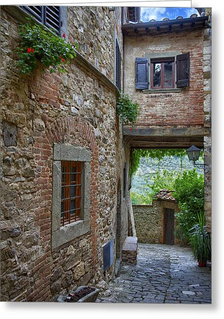 Montefioralle Tuscany 2 Greeting Card