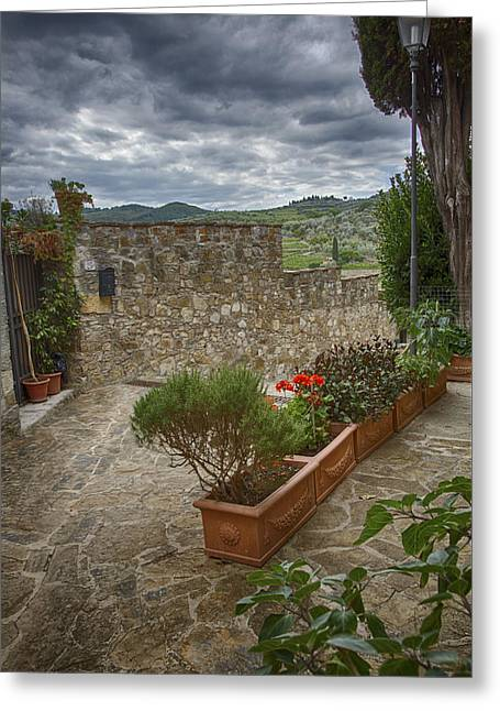 Montefioralle Tuscany 4 Greeting Card