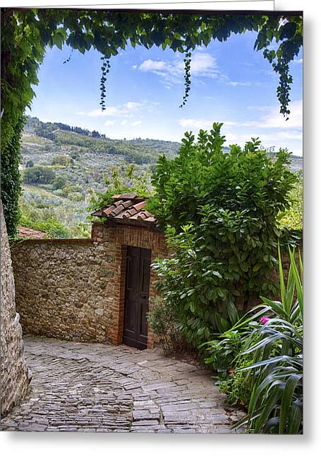Montefioralle, Tuscany Greeting Card