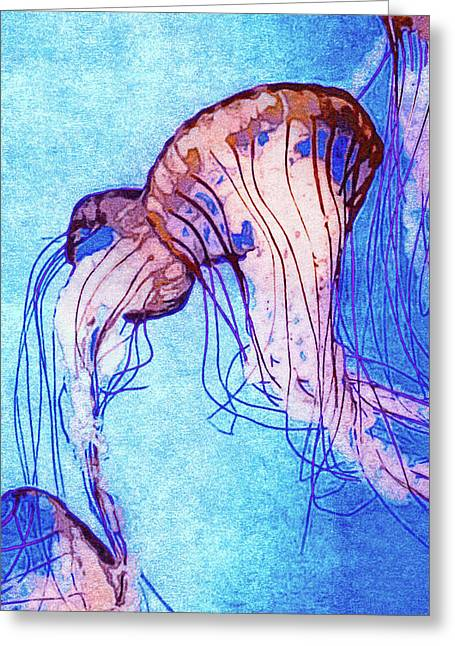 Monterey Bay Jellyfish Greeting Card by Susan Maxwell Schmidt