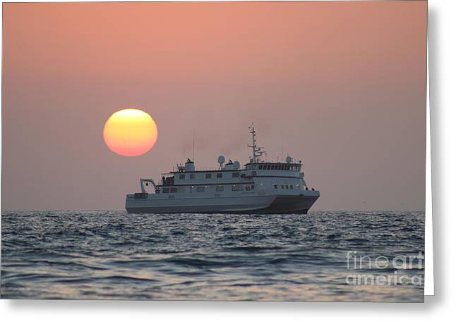 Monterey Bay Research Ship Greeting Card