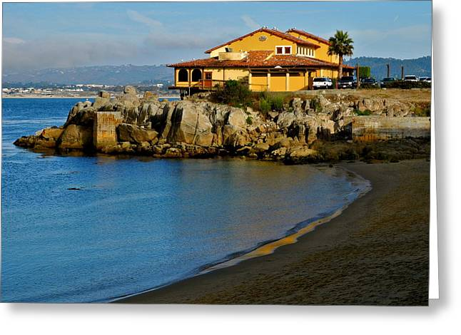 Monterey Bay Restaurant Greeting Card by Kirsten Giving