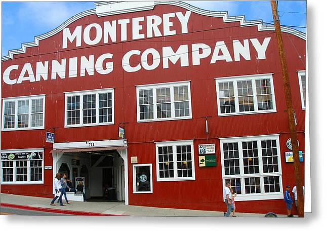 Monterey Canning Company Greeting Card by Candace Garcia