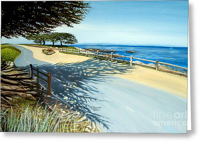 Monterey Shadows Greeting Card