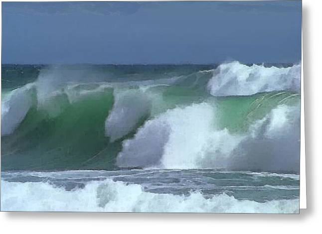 Monterey Surf Greeting Card