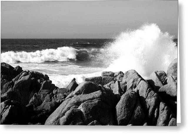 Monterey Waves Greeting Card by Halle Treanor