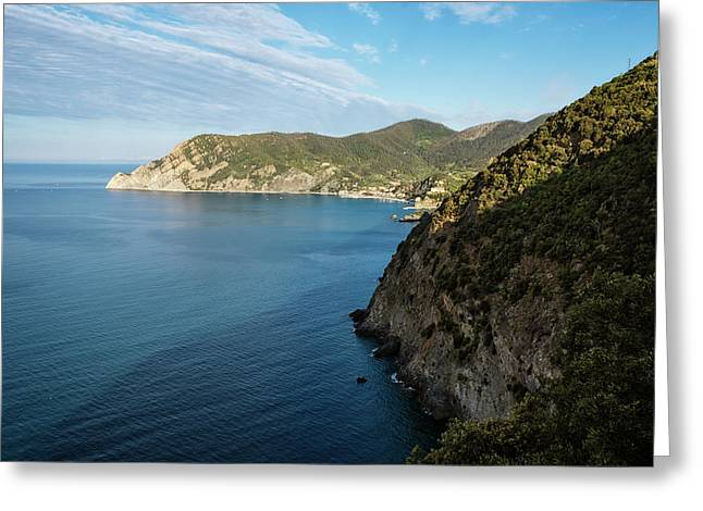 Monterosso And The Cinque Terre Coast Greeting Card by Joan Carroll