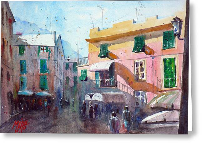 Monterosso Greeting Card by Andre MEHU