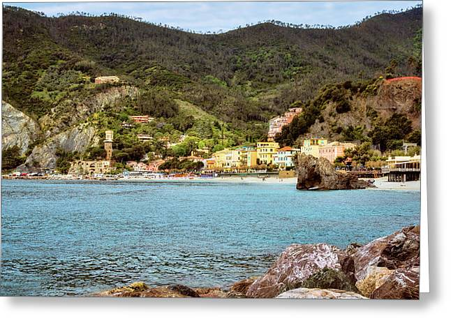 Monterosso Cinque Terre Italy Greeting Card by Joan Carroll