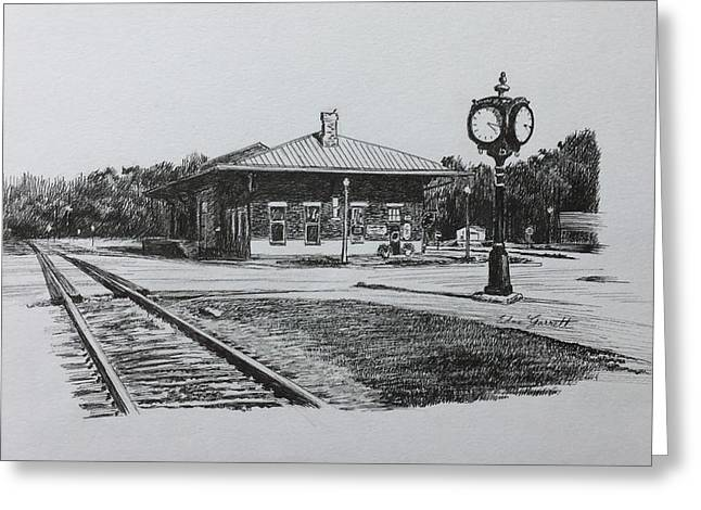 Montezuma Depot Greeting Card
