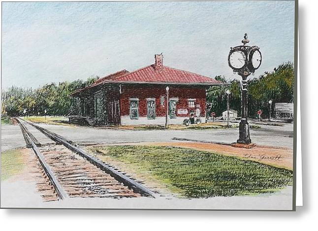 Montezuma Train Depot Greeting Card
