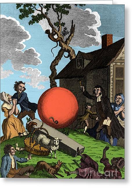 Montgolfier Balloon, 1783 Greeting Card