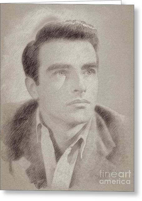 Montgomery Clift Vintage Hollywood Actor Greeting Card by Frank Falcon