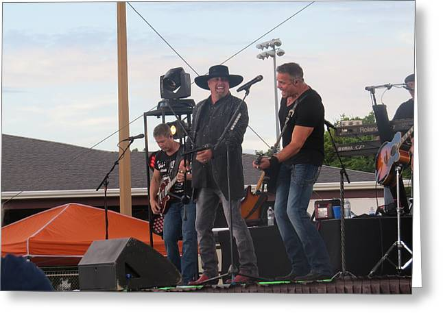 Greeting Card featuring the photograph Montgomery Gentry by Aaron Martens