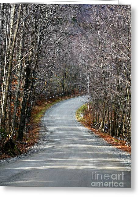 Montgomery Mountain Rd. Greeting Card